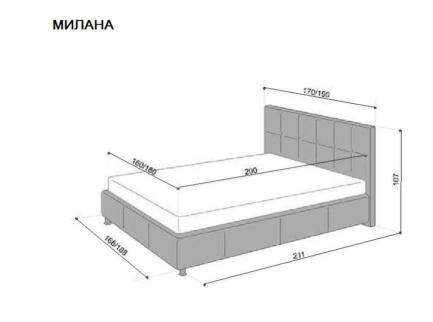 Кровать  с основанием чертежи